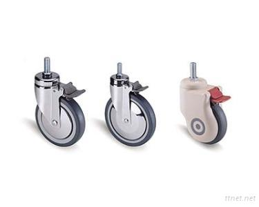 Heavy-duty Castors for Hospital Bed/Equipment Use