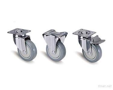 Medium-duty Castors for Hospital Bed/Equipment Use