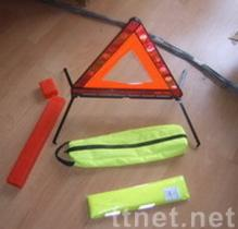 De Uitrustingen van de Veiligheid van de auto (gevarendriehoek + veiligheidsvest)
