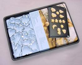 Cookie Pan with 12pcs Cookie Cutters Set