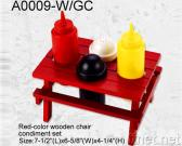 Wooden Desk Condiment Set