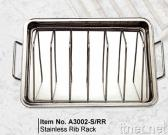 S/S V Rib Rack Set with S/S Pan
