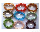 Bracelet w/ Gold Foiled Glass Beads