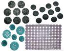 Botones de la ropa de la piedra preciosa