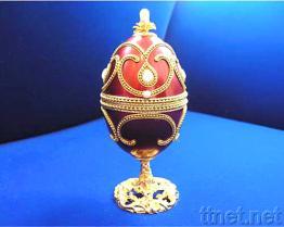 自然な卵の殼の宝石箱