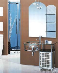 Bathroom Glass Basin Vanity Set