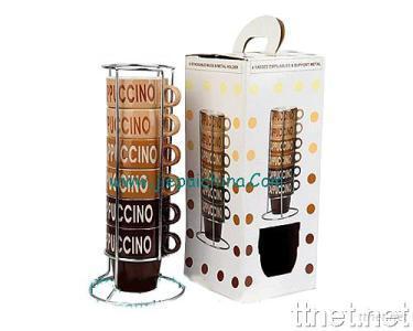 Ceramic Mug with Iron Stand
