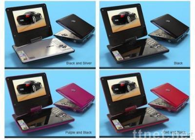 7' Rotatable Portable DVD Palyer & Analog TV &GAME & USB
