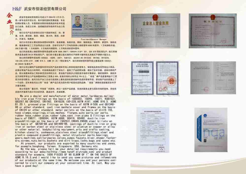 Wu'an City Honesty & Faith Economic & Trade Co., Ltd.