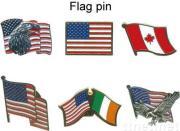 Flag pin,badges,safety pin