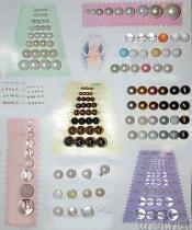 Granos y botón cristalinos