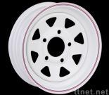 export Steel painted wheels (modular,blade,8 spoke)