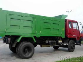 De Vrachtwagen van de stortplaats
