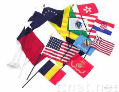 Stick Flags, hand flag