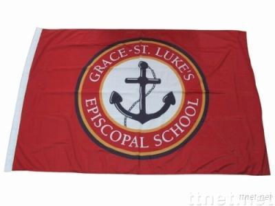 Logo flag, national flag made of woven polyester