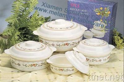 Melamine Bowl with Lid Set