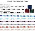 Two Tone Bead Garland - Round Bead