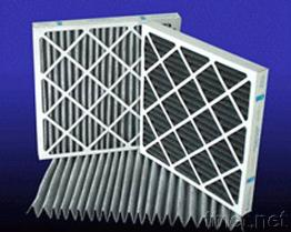 Low Pressure Drop Composite Activated Carbon Pleated Panel Filters