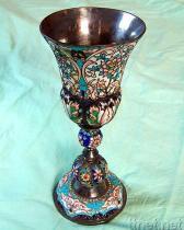 Un argento russo - scrofa giovane e calice dello smalto