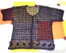 뜨개질을 하는 복장 또는 여자 피복