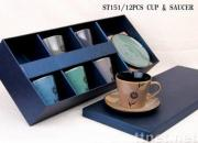 Coffee Cups With Saucer And Gift Box