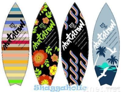 surfboard shape beach towel