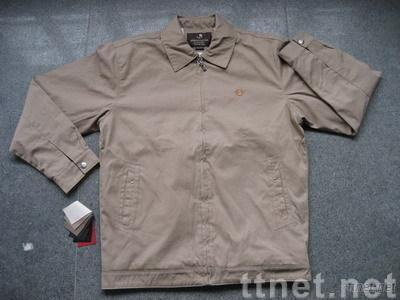 Men's Jacket in Bonded Tencel Like Cotton Fabric