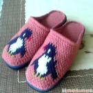 Pure hand knitted slippers