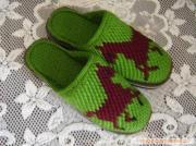 Pure hand crocheted shoes 2