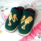 Pure hand crocheted slippers