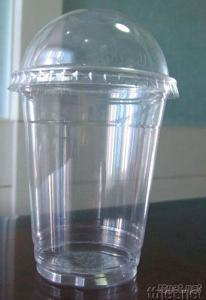 Disposable Plastic Cup, PET Cup with Dome