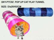 Pop Up Foldable Cat Play Toy Tunnel