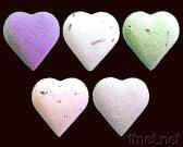 Baño efervescente - corazón
