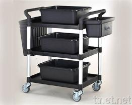 3 de Kar w/Buckets van de Dienst van planken en Bakken