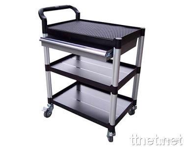 3 Shelves Tool Trolley w/One Drawer