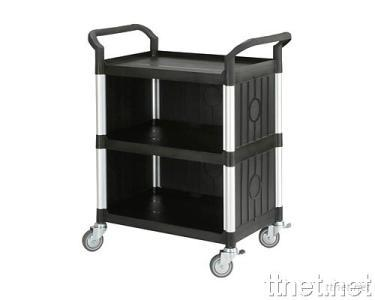 3 Shelves Service Cart  w/Panels on 3 Sides