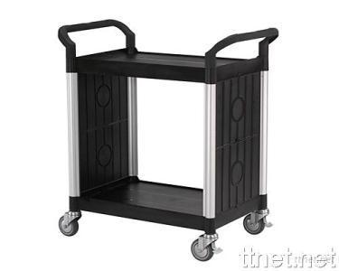 2 Shelves Service Cart  w/Panels on 2 Sides