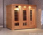 Traditional infrared sauna room