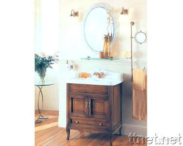 Classical Bathroom Cabinets Furniture with Countertop and Sink
