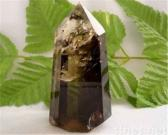 Natural smokey quartz pillar