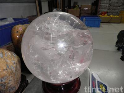 Large clear quartz sphere