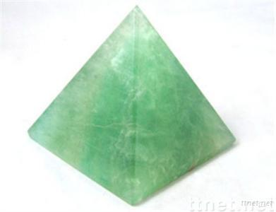 Natural fluorite pyramid craft
