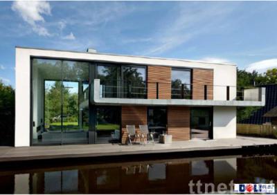 float building, floating house