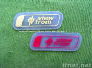Sewn Silicone Embossed Labels