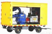 Intelligent Mobile Diesel feed water pump (self-priming centrifugal pump)  (trailer pump)