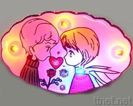 Steek Kentekens voor de Dag van de Valentijnskaart aan