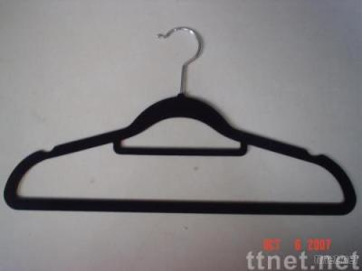 flocked suit Hanger with Necktie Bar