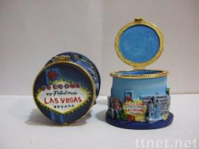 Jewelry Box Casket With Las Vegas Landscape