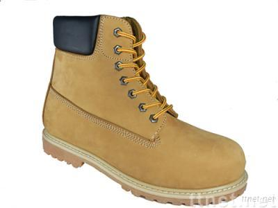 Goodyear welted nubuck boots