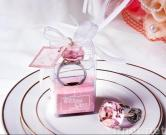 keychain en cristal rose d'anneau